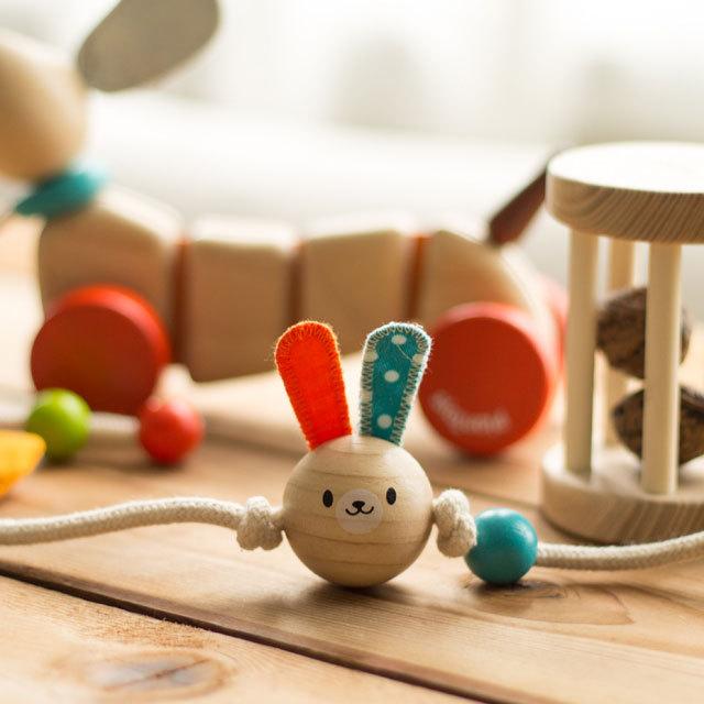 【出産祝いギフト-1】 ハッピーパピーセット 木のおもちゃオリジナルギフト