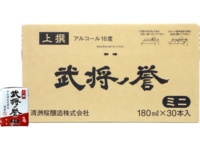 上撰 武将ノ誉ミニパック 180ml(ケース)