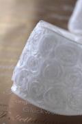 ドイツリボン・Rose Deco ホワイト 95ミリ幅