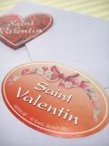 ベルギー製バレンタインシール