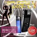 防犯カメラ コンパクトビデオカメラ ライター  セキュリティカメラ スパイダーズX (A-500)ブラック 撮影機能付ライター 1200万画素