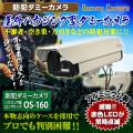 防犯カメラや防犯シールと併用で効果UPダミーカメラハウジング型 ロングサイズ (OS-160) 屋外用