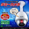 防犯カメラや防犯プレートと併用で効果UP ダミーカメラ ドームハウジング型 (OS-171) 赤色LEDが常時点滅 防雨タイプ