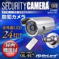 防犯カメラ 監視カメラ 屋外赤外線暗視カメラ  赤外線LEDライト オンロード(OL-017)  24時間常時録画 暗視撮影 動体検知