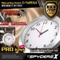掛け時計型カメラ スパイカメラ スパイダーズX (C-520α) Wi-Fi接続 IPカメラ スマホ対  応 プロテクト機能