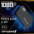 充電器型カメラ ポータブルバッテリー 小型カメラ スパイダーズX (A-601) スパイカメラ 簡単撮影 64GB対応