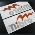 MIBRO ミブロ 「mibroカッティングステッカー Mサイズ 正面反転2枚セット」