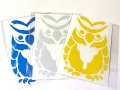 THE OWL GENE LURE'S オウルジーンズ 「トライバルフクロウリフレクターカッティングステッカー」