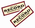 RECORD レコード 「GENUINE RECORD オリジナルワッペン」
