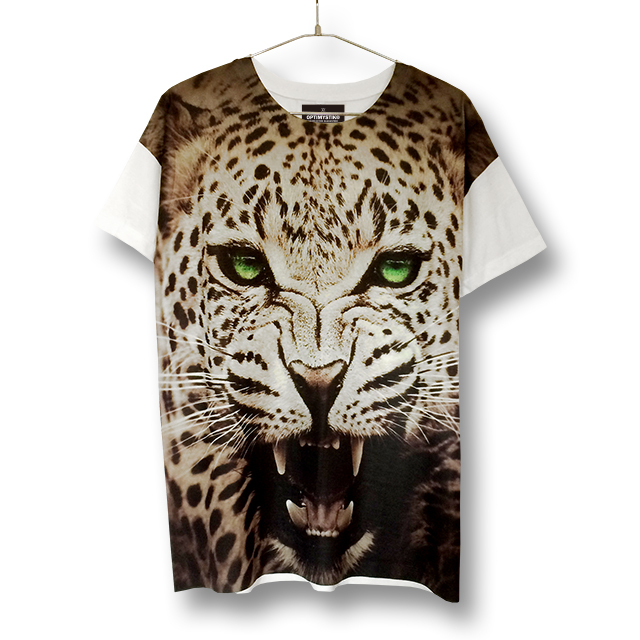 FELINE PHOTO T/S / BARKING LEOPARD