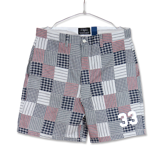 33 PATCHWORK SHORT PANTS