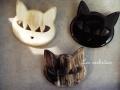 水牛の角 猫 キャットブローチ