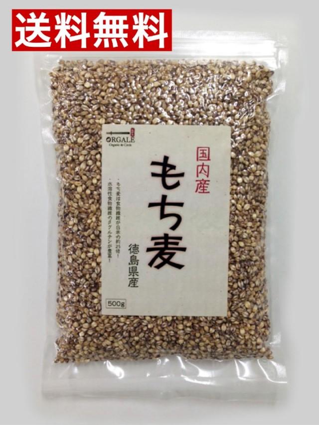 国内産(徳島県産) もち麦500g 真空袋、脱酸素剤入りで新鮮!