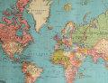 Cavallini & Co. ポスター ワールドマップ 4