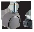 ウレタンキャスター 車輪直径50mm W13214XSET5 <ネット限定・お得!5個セット>
