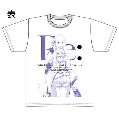 """音T「Re:ゼロから始める異世界生活""""Re:エリー""""のラジオ生活Tシャツ」"""