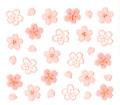 【bibi deco bi-149LP】ネイルシール bi−149LP切り絵桜 ライトピンク