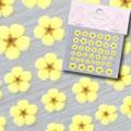 【春ネイル】【Pieadra64134】ピアドラ/押し花ネイルシール7イエロー