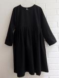 LE VESTIAIRE DE JEANNE LE VESTIAIRE DE CLE VDJ, Pleated dress,  long sleeves, black wool blend