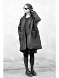 LE VESTIAIRE DE JEANNE LE VESTIAIRE DE CLE VDJ,Coat, herringbone wool drap