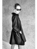 LE VESTIAIRE DE JEANNE LE VESTIAIRE DE CLE VDJ,Shirt-dress,black wool blend