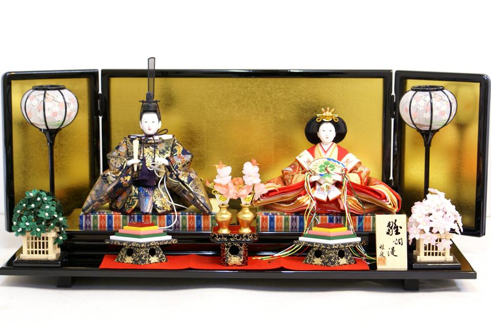 【雛人形】雅泉作 「雛浪漫」二人 親王平飾り(47G230)