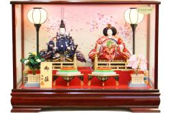 雛人形 桜雅作 御雛 親王二人 ケース飾り(33214)