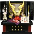 【五月人形】武光作 「立体乗金具付貫前兜」収納飾り(10323)