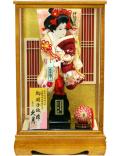 【羽子板】久月作  紅華ケース飾り(15111-2)