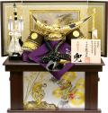 【五月人形】龍玉作 「伊達政宗兜」収納飾り(15239)