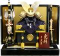 【五月人形】久月作 家紋「白紺絲縅兜」 平飾り(1527)