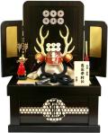 【五月人形】伯峰作 六文銭「真田幸村 兜」コンパクト収納飾り(17D-01)