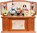 【雛人形】吉徳大光 「御雛」二人親王 コンパクト収納飾り(305-390)