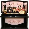 【雛人形】吉徳大光 「御雛」二人親王 コンパクト収納飾り(305-374)