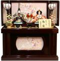 【雛人形】吉徳大光 「御雛」二人親王 コンパクト収納飾り(305-360)
