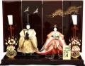 【雛人形】吉徳大光 「立姿雛」 親王平飾り(305-427)