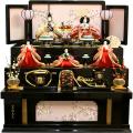 【雛人形】吉徳大光 「花ひいな」五人 収納式三段飾り(306-016)