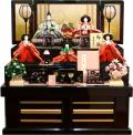 【雛人形】吉徳大光 「百人一首」五人 収納式三段飾り(306-709)