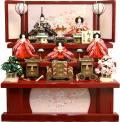 【雛人形】吉徳大光 伝統紋様束帯十二単「御雛」五人 三段飾り(306-915)
