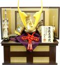 【五月人形】武光作 「立体貫前鍬形 子供着用兜」収納飾り(3240)