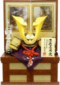 【五月人形】武光作 「立体大鍬形 子供着用兜」収納飾り(3242)