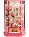【雛人形】吉徳大光 ピンク「吊るし雛」 六角ケース飾り(351-860)