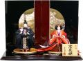 雛人形 千匠作 正絹 京友禅「立雛」親王飾り(45A-307)