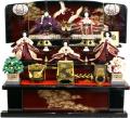 【雛人形】 千匠作 金彩刺繍「雛」 三段飾り(45GT-2)