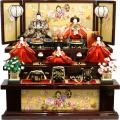 【雛人形】雅泉作 「雛つづり」五人 三段飾り(47GT050)
