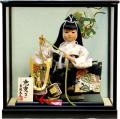 【五月人形】吉徳大光作 子供大将 武者人形ケース飾り(503-201)