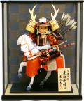 【五月人形】吉徳大光作 子供大将「真田幸村 馬上大将」 武者人形ケース飾り(503-506)