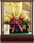 【五月人形】吉徳大光作 「龍頭付 大鍬兜」ケース飾り(537-026)