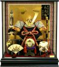 【五月人形】吉徳大光作 「龍頭・三品付 長鍬兜」ケース飾り(537-143)