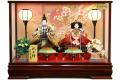 【雛人形】久月作 「よろこび雛」二人親王 ケース飾り (5880)